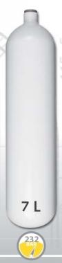 Lahev ocelová 7 L průměr 140 mm 230 Bar