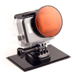 Filtr červený pro GOPRO HERO 5 s adaptérem