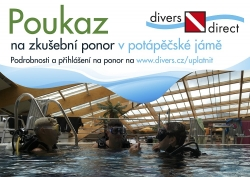 Gift voucher for trial dive with the device