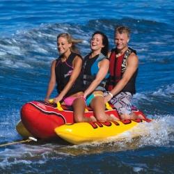 Kluzák vodní tažný pro 3 osoby Hot Dog, AIRHEAD