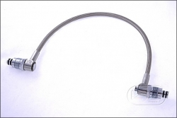Stainless steel HP hose /w elbow