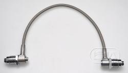 Stainle steel HP 300 bar hose /w elbow