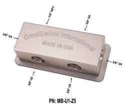 """Manifold středotlaký 1 port NPT 1/4"""" , 5 portů 3/8"""""""