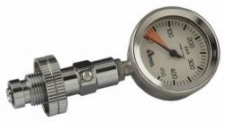 Manometr na měření tlaku v láhvi, Apeks