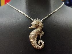 Přívěsek Mořský koník (střední) stříbrný