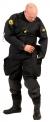 Oblek suchý VTS POLYESTER - zadní zip s latexovou kuklou, Viking